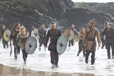 The cast of Vikings.