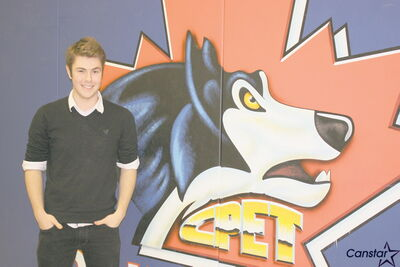 Collége Pierre-Elliott-Trudeau student Andrew Chudley, who took part in International Development Week by writing, producing, and recording a song with seven other high school students.