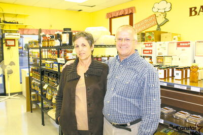 Owners of St. Vital local food shop, Local Meats & Frozen Treats, Ken and Wendy Loney