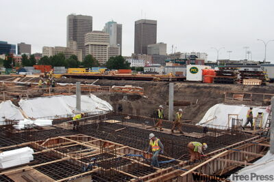 Construction of the Canadian Museum for Human Rights is moving towards the above-ground phase.