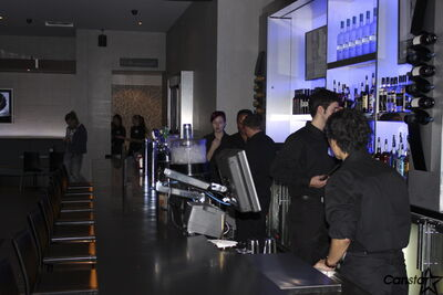 The new Cineplex multiplex is complete with a bar.