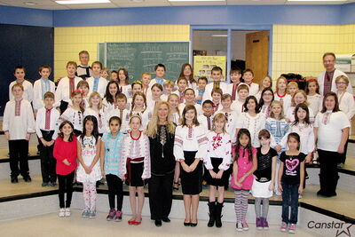 R.F. Morrison School's choir program recently recorded a CD of Christmas carols, sung in multiple languages, to commemorate the school's 50th anniversary as part of Seven Oaks School Division.