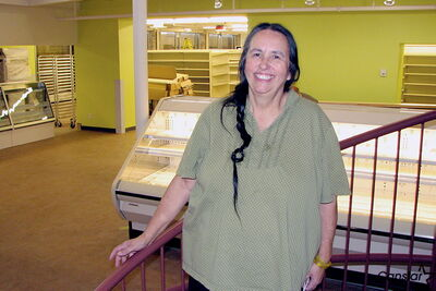 Louise Champagne, president of Neechi Foods Co-op Ltd., stands inside the nearly finished Neechi Commons. Neechi Commons will include everything from a grocery store to a restaurant to an art store, encompassing a multitude of services under one roof. It is expected to open in January.