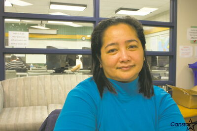 Chona Amador, once a dentist in the Philippines, has been upgrading her skills and making contacts in her field through the Seven Oaks Adult Learning Centre.