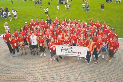 The Heart of Safeway team poses for a group shot at last year's Challenge for Life.