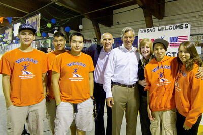 Point Douglas MLA Kevin Chief and Ambassador to the United States Gary Doer recently visited the WASAC camp, where they were inspired by the can-do attitude of camp-goers.