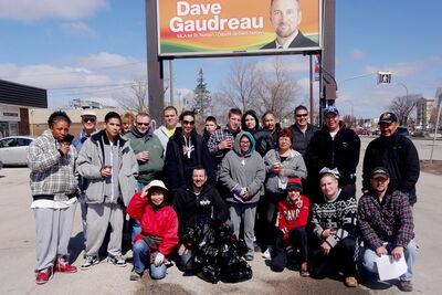 There was a great turnout for this year's spring cleanup in St. Norbert. Over 30 people helped clean up the streets from Waverley Heights to St. Norbert.