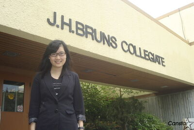 Vera Deng, a Grade 12 student at J.H. Bruns Collegiate, is the winner of the 2012 Manitoba Mathematical Competition.