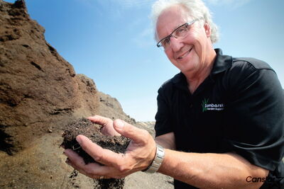 Lenn Samborski hopes to be able to expand his family's composting business.