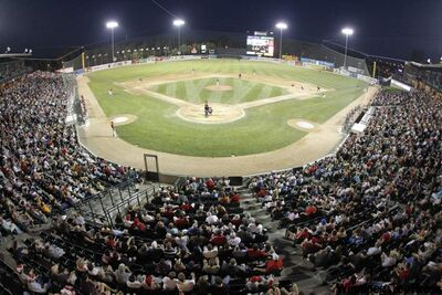 Large crowds at CanWest park to see the Goldeyes face the Fargo-Moorhead RedHawks.