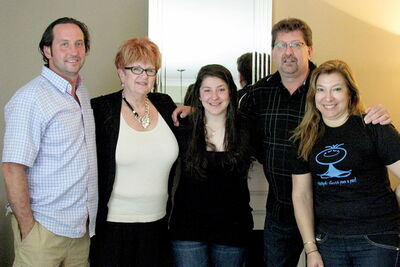 (L-r: )Grant Ganczar, assistant director of St. James-Assiniboia School Division's international student program, Cherry Thoms, Bianca Bigoto, Dennis Thoms and Marilena Bigoto. Bianca, a resident of Sao Paulo, Brazil, stayed with the Thoms family as she completed Grade 10 through the international student program.