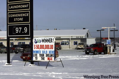 Broadlands Mall in Sagkeeng, where the $50-million winning ticket was sold.