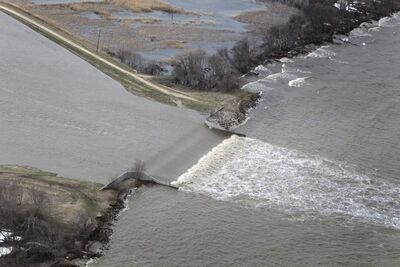 Water spilling into Lake Manitoba from the Portage Diversion was to blame for flooding in 2011.