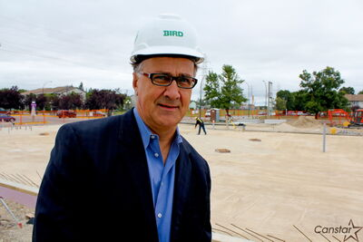 Seven Oaks superintendent Brian O'Leary at the construction site of the new adult learning centre on Jefferson Avenue. The 11,000 sq. ft. building is ahead of schedule of its Dec. 21 completiion date.