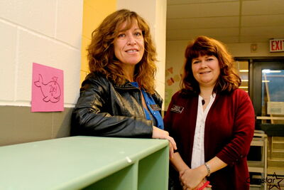 Traci Wright (left) and Debbie Love of the Great Expectations program.