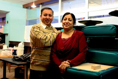 Ashwani (left) and Suroj Nagpal purchased the former Downtowner motel on Ellice Avenue and plan to turn it into student housing.