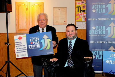 Legion president Don Pickering and Charleswood MP Steven Fletcher.