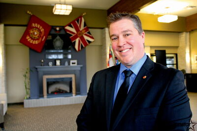 Eirik Bardal said he is honoured his family's funeral home has been loaned the regiment colours of the Winnipeg Grenadiers.