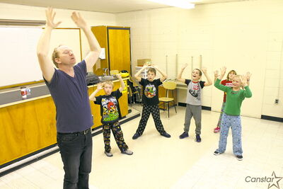 Students at General Vanier school spent time with Chris Sigurdson as part of the Artists in the Schools program.