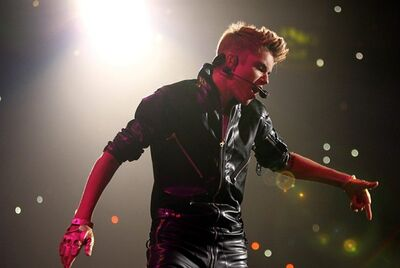 Justin Bieber performs on Oct. 2, 2012, in Los Angeles. THE CANADIAN PRESS/AP, Matt Sayles/Invision