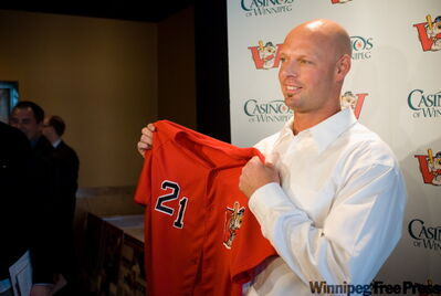 Donnie Smith became the second Winnipeg Goldeye ever to have his jersey retired.