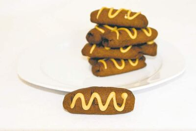Chocolate coffee fingers, a homemade treat, join a selection of bakery cookies to help put the yum in yule.