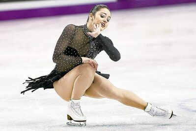 Paul Chiasson / THE CANADIAN PRESSCanada�s Kaetlyn Osmond performs her short program in the women�s competition Thursday night.