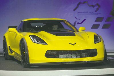 The 2015 Chevrolet Corvette Z06.