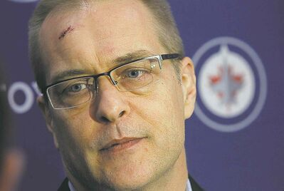 Paul Maurice was seeing superstars after getting beaned with the puck.