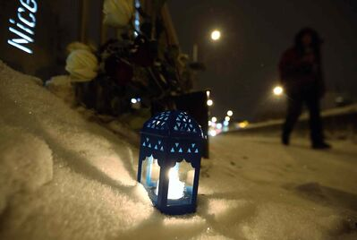 A memorial for a homicide victim was placed on the Osborne Street Bridge on Saturday.