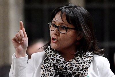 Health Minister Leona Aglukkaq responds to a question during question period in the House of Commons on Parliament Hill in Ottawa on Monday, April 22, 2013. THE CANADIAN PRESS/Sean Kilpatrick