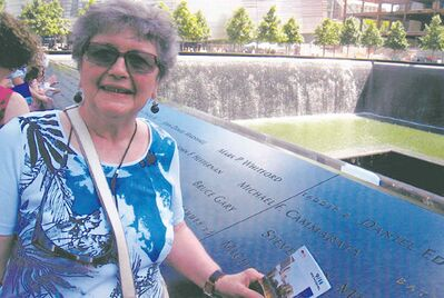Anne Yanchyshyn, pictured at the World Trade Center Memorial in New York in July 2012.