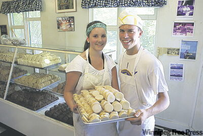 Laura Jane Warkentin and Blake Einfeld with some dream cookies.