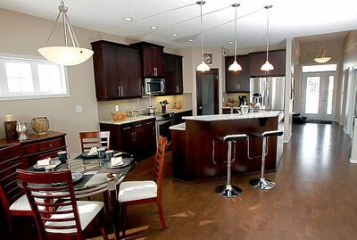 Eating area and kitchen at 32 Benson Boulevard in Oak Bluff West.