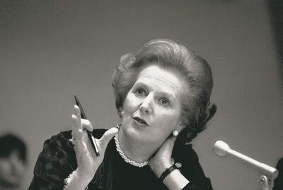 British prime minister  Margaret Thatcher in 1982.