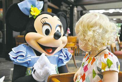 At Aulani, kids get to mingle with Disney characters.