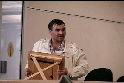 Robert Dziekanski holds a small table at the Vancouver Airport before he was tasered by police in this image from video. The BC Coroner's Service says the death of Polish immigrant Dziekanski in an altercation with RCMP officers at Vancouver's airport six years ago was a homicide.Homicide is considered a neutral term in coroner's reports and does not apportion any blame.THE CANADIAN PRESS/HO-Paul Pritchard