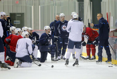 Maurice conducted an up-tempo, fast-paced workout, occasionally broken up by on-ice teaching sessions with the troops.