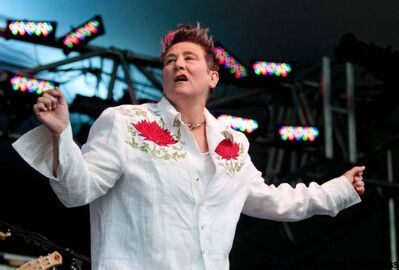 Alberta's  k.d. lang  was one  of Friday's  main attractions at the festival.