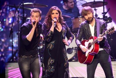 Lady Antebellum performs at the MTS Centre Wednesday evening.