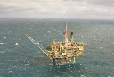 Ken Taylor / The Associated Press  An oil platform in the North Sea about 180 kilometres east of Aberdeen, Scotland.