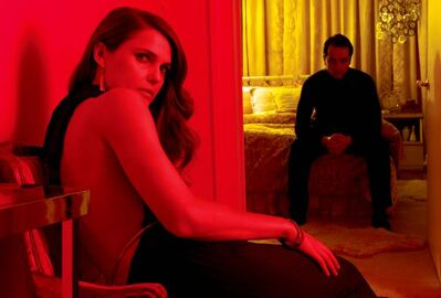 Keri Russell (left) as Elizabeth Jennings and Matthew Rhys as Philip Jennings in The Americans.