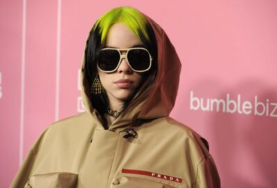 Chris Pizzello / The Associated Press</p><p>Billie Eilish arrives at Billboard's Women in Music at the Hollywood Palladium on Thursday, Dec. 12, 2019, in Los Angeles.</p>