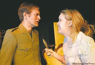 Thomas Toles and Jane Walker performing in Mary Rose, a play by J.M. Barrie.