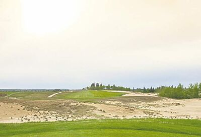 POSTMEDIA NEWSPlenty of sand will challenge golfers on the 15th hole at the new Links Course at Wolf Creek.