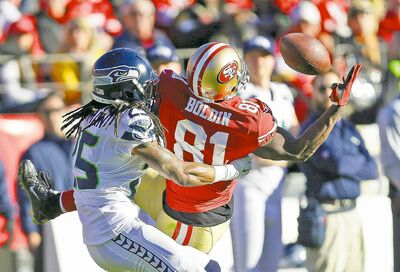 49ers wide receiver Anquan Boldin and Seattle Seahawks cornerback Richard Sherman will see a lot of each other Sunday.