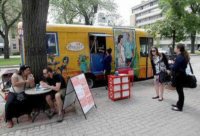 Beaujena's French Table Food Truck on Broadway.