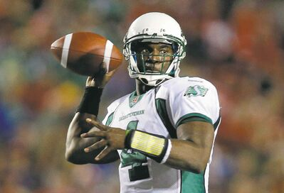 Jeff McIntosh / THE CANADIAN PRESS FILESSaskatchewan Roughriders quarterback Darian Durant has started five straight Labour Day Classics and won five straight.