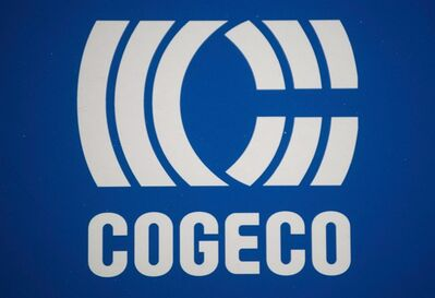 A Cogeco logo is shown during to the company's annual general meeting in Montreal, on January 15, 2013. THE CANADIAN PRESS/Graham Hughes