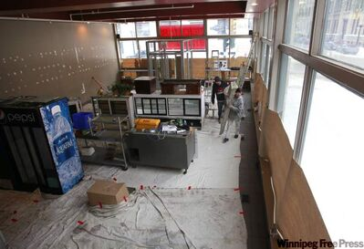 An inside view of the Free Press News Cafe at 237 McDermot Ave. currently under renovation.